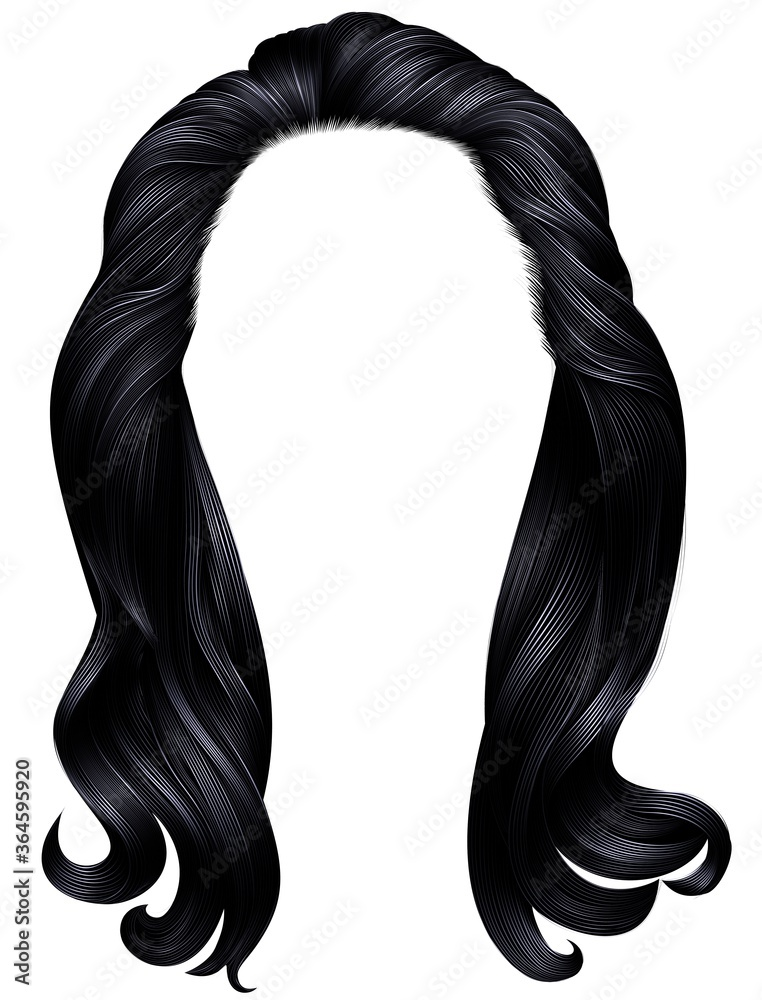 Fototapeta  trendy woman long hairs black colors.beauty fashion .   realistic  graphic 3d