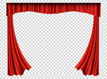 Red Curtains Realistic. Theate...