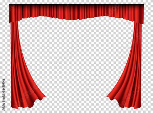 Fotografia Red curtains realistic