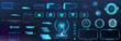 Digital set with HUD elements (Callouts titles, Holograms projectors, circle sky-fi gadgets, frames) VR elements and shapes. Futuristic information bars and digital elements for App, GUI, UI, UX.