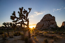 Sunset Over A Desert Landscape