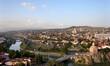 Tbilisi city panorama from Narikala Fortress in Georgia.