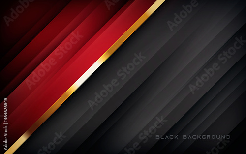 Red and black abstract background Fototapeta