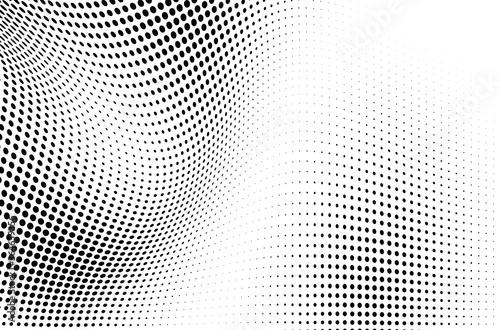 Fototapeta The halftone texture is monochrome. Vector chaotic background obraz