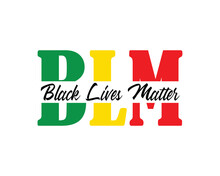 BLM Black Lives Matter Illustr...
