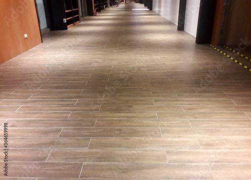 Fototapeta View of shopping mall, empty corridor obraz na płótnie