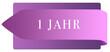 Leinwanddruck Bild - 1 Jahr web Sticker Button