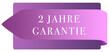 Leinwanddruck Bild - 2 Jahre Garantie web Sticker Button