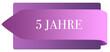 Leinwanddruck Bild - 5 Jahre web Sticker Button