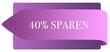 Leinwanddruck Bild - 40 % sparen web Sticker Button