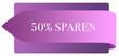 Leinwanddruck Bild - 50% sparen web Sticker Button