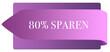 Leinwanddruck Bild - 80% sparen web Sticker Button