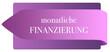 Leinwanddruck Bild - mtl. Finanzierung web Sticker Button