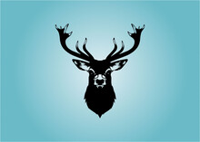 Deer Head Vector Design