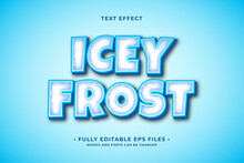 Icey Frost Text Effect Editable Vector