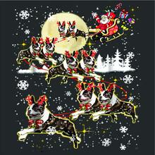 Boston Terrier Reindeer Christmas Nice Dog T Design Vector New Design Vector New