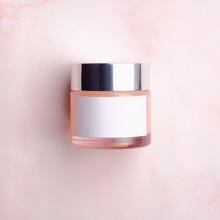 Elegant Cream Container, Cosme...