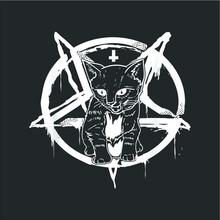 Satan Cat Occult Satanic Lucifer Gift Women Men Design Vector New Design Vector New