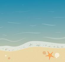 Beautiful Seashore Background ...