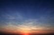 Leinwandbild Motiv sunset in the sky