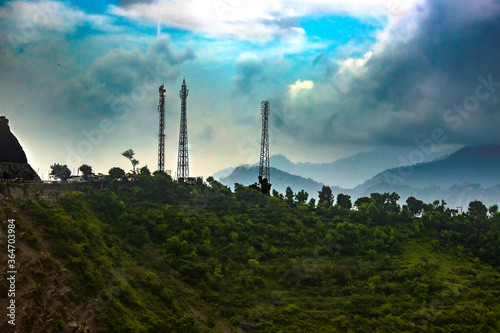 Canvas Print Telecommunication tower on mountains
