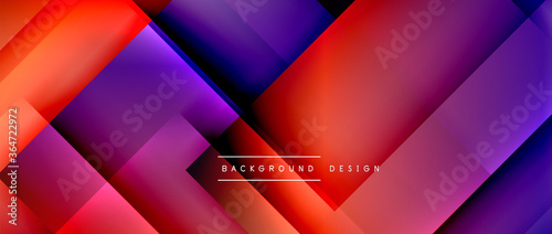 Square shapes composition, fluid gradient geometric abstract background. 3D shadow effects, modern design template