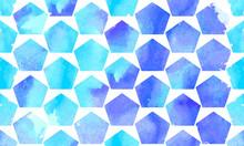 Morrocan Ornament Of Blue Colors