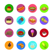 Set Of Food Icons Vector