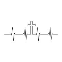 Cross Heartbeat Vector, Christ...