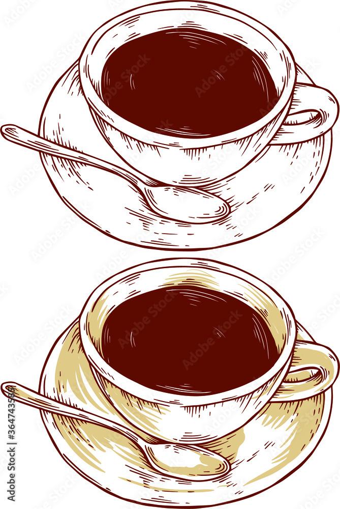 Fototapeta cup of coffee