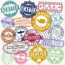 Seattle Washington Stamp Vecto...