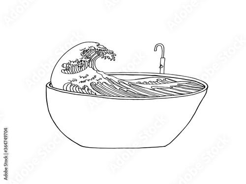 Papel de parede Bath concept vector poster