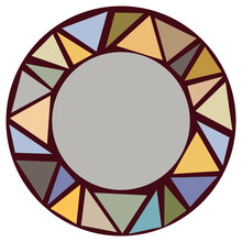 Mosaic Circle Frame. Vector Illusntation