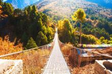 Suspension Bridge In Himalaya ...