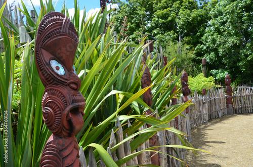 Te Parapara Maori garden in Hamilton Gardens, New Zealand Canvas Print
