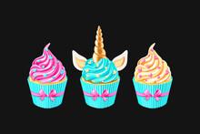 Festive Unicorn Cupcakes Set. ...
