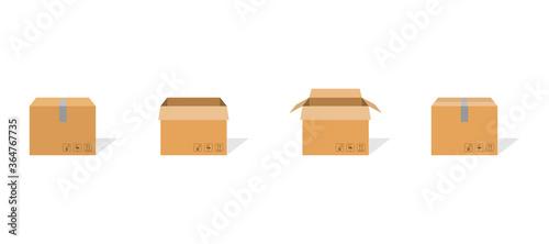 Carton box container set Fototapet