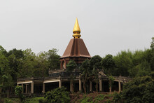 Wat Doi Mae Pang, A Buddhist Temple In Phrao District, Chiang Mai Province, Northern Thailand.