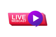 Live Webcast Button, Icon, Emb...
