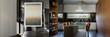 Modern art in kitchen, panorama