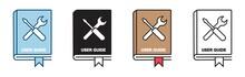User Guide Book Icon Set In Li...