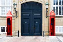 Gate To The Amalienborg Castle In Copenhagen, Denmark