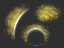 Protection From Pollen Allergy A Vector Concept, Illustration Of Barrier Or Energy Field That Deflects Yellow Pollen Clouds, Templates Set For Seasonal Allergy  Themed Designs