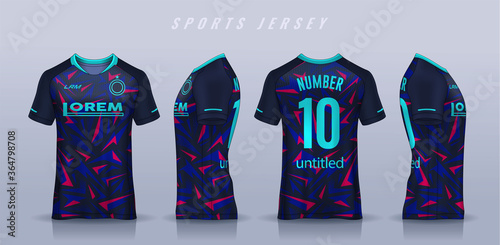 Fotografie, Obraz t-shirt sport design template, Soccer jersey mockup for football club