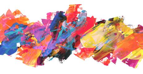 Apstraktna akrilna slika i akvarel. Pozadina teksture u boji.