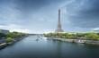 canvas print picture Eiffel tower in Paris. France
