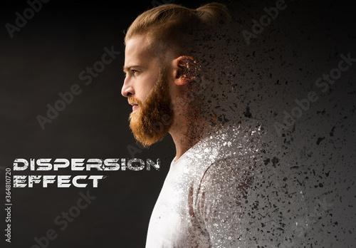 Dispersion Photo Effect Mockup