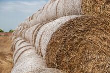 Bails Of Hay In A Field Locate...