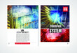 Modern vector templates for brochure, magazine, flyer, booklet with 3D rendering technology concept
