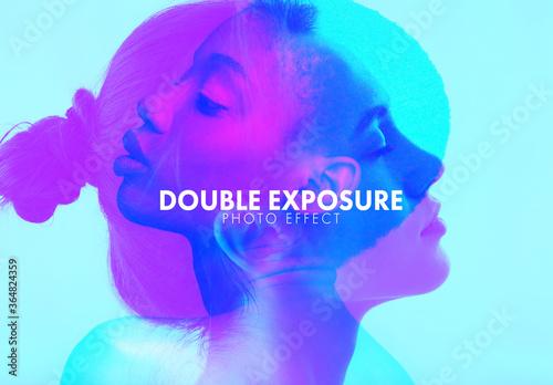 Obraz Double Basic Color Exposure Photo Effect - fototapety do salonu